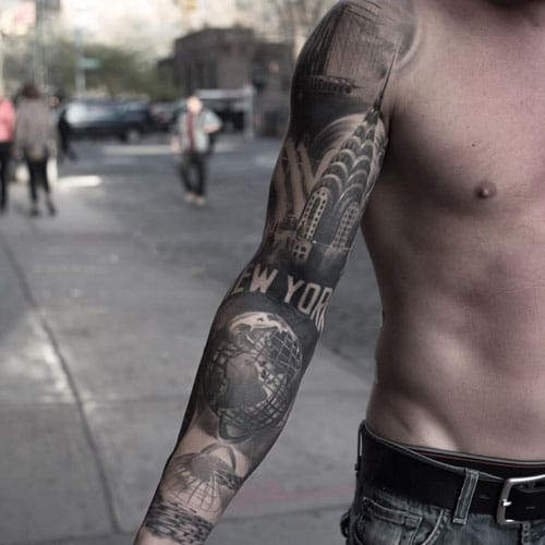 Full Sleeve Inner Arm Tattoo Designs