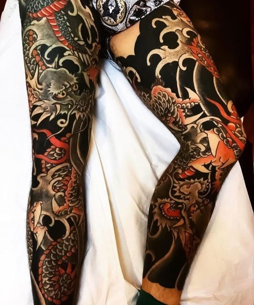 Japanese Full Leg Sleeve Tattoo Ideas