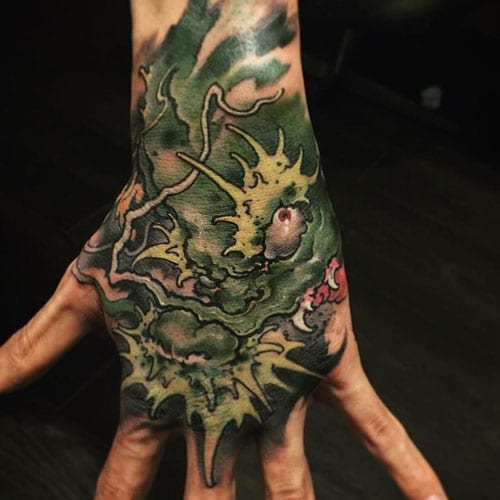 Japanese Hand Tattoo