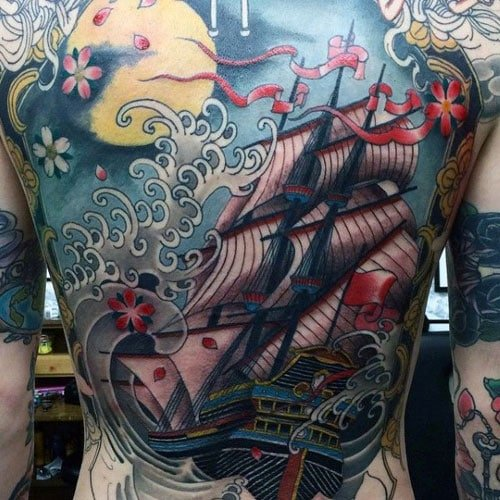 Japanese Wave Tattoo Designs