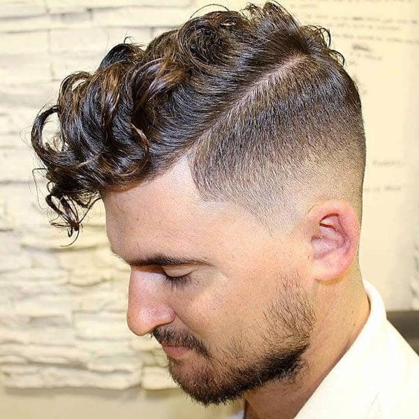 Long Curly Fringe Fade