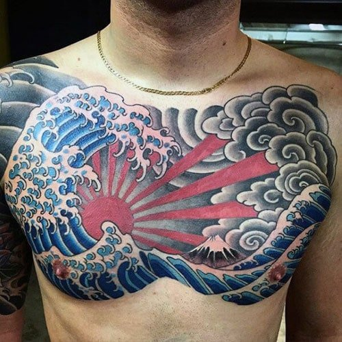 Traditional Japanese Water Wave Tattoo Designs