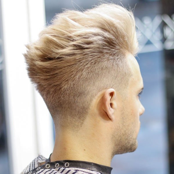 Blonde Hair Pompadour Fade