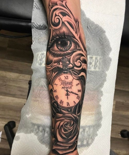 Clock Tattoo Ideas