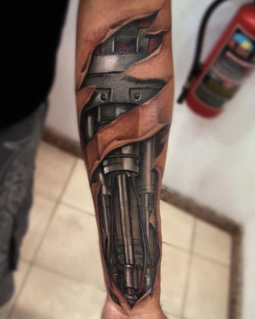 Cool 3D Arm Tattoo Ideas