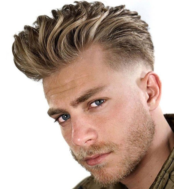 Thick Blonde Hairstyles For Men