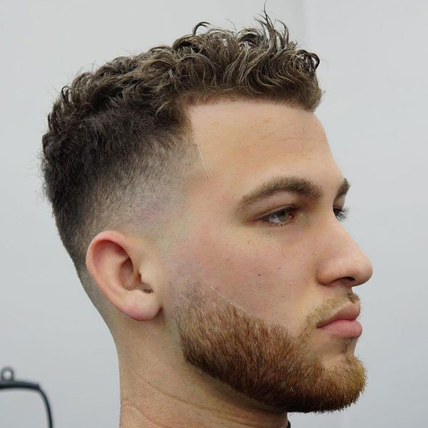 Curly Hair Taper Fade