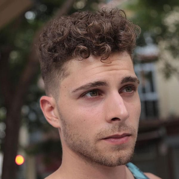 Curly Hair Top Fade Haircut