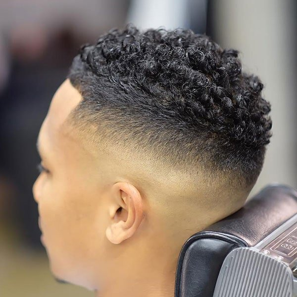 Curly Temp Fade Haircut