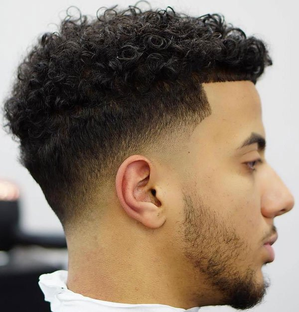 Drop Fade Curly Hair