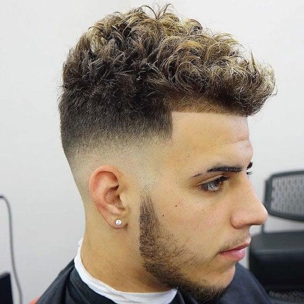Short Curly Hair Fade