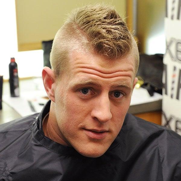 Short Mohawk Fade For Receding Hair Men