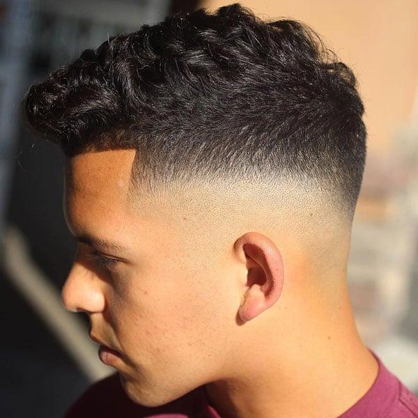 Skin Fade Curly Hair