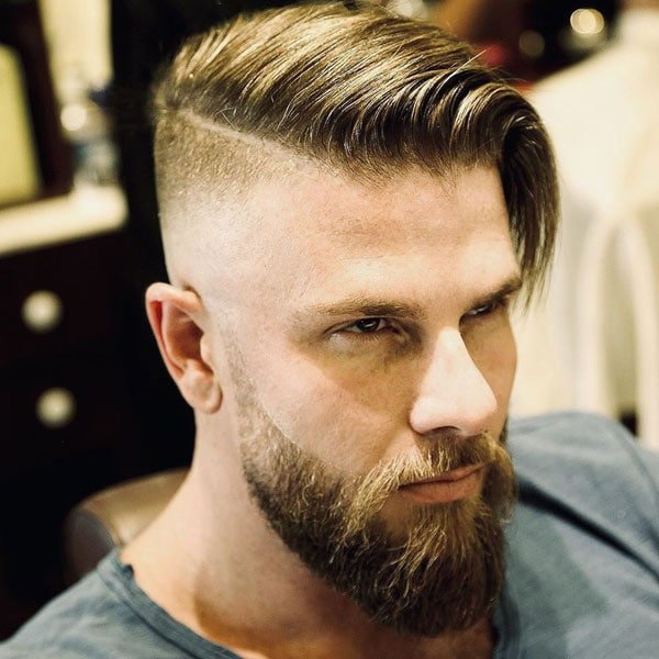 Comb Over Undercut Fade