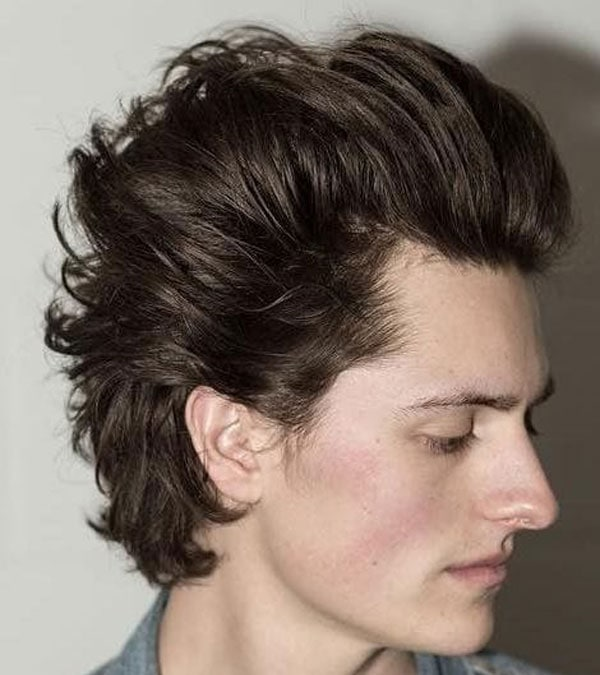 Long Hair Blowout with Classic Tapered Sides