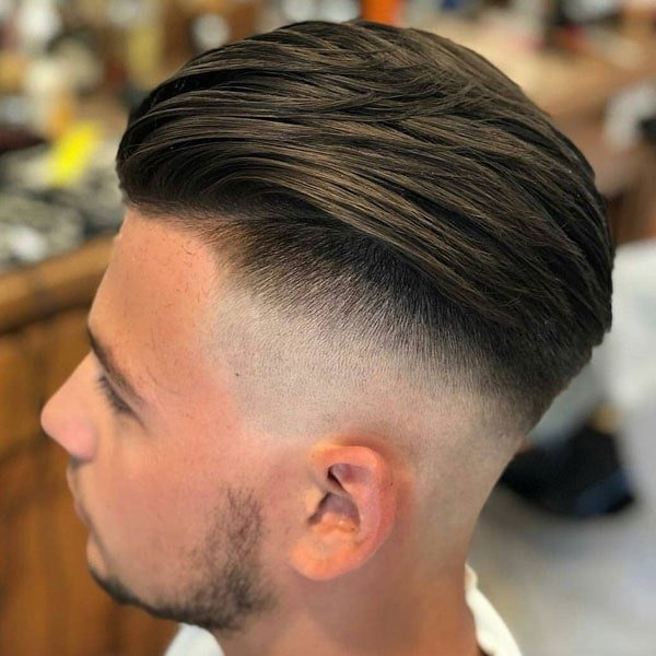 Long Hair Undercut Fade