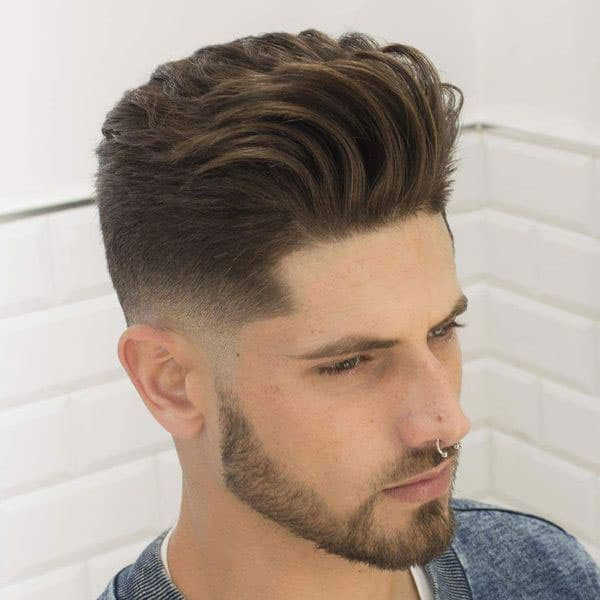 Short Skin Taper Blowout Haircut Men