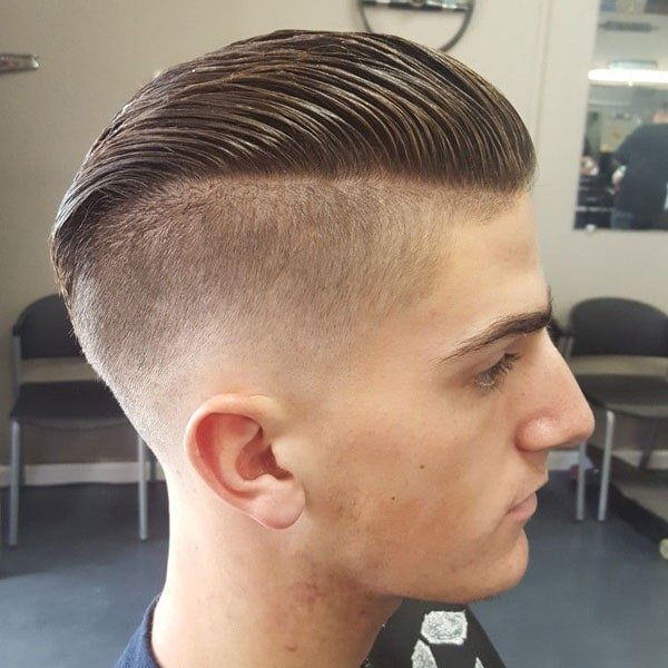 Slicked Back Undercut Fade
