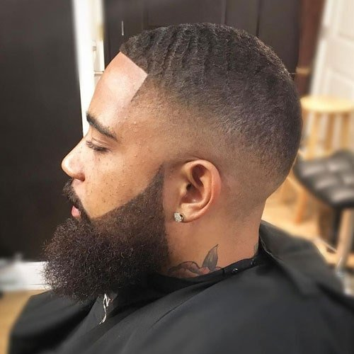 180 Waves Fade Haircut