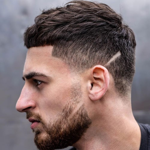 Cool Caesar Fade Haircut