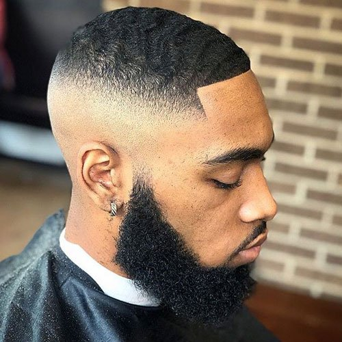 High Top Fade with Waves