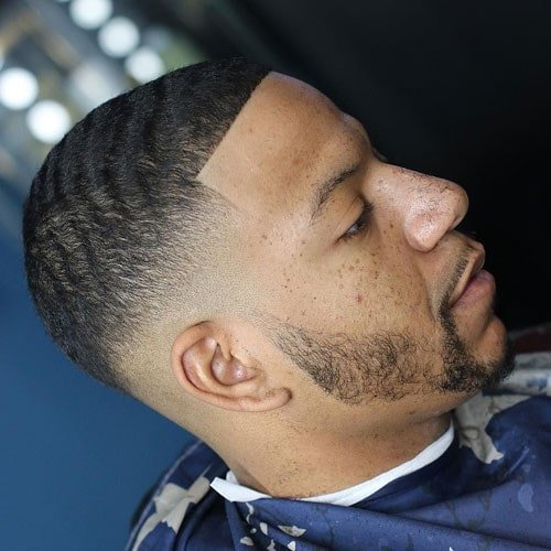 Low Drop Fade with Waves