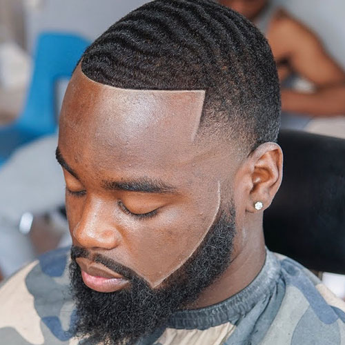 Temp Fade Haircut with Waves