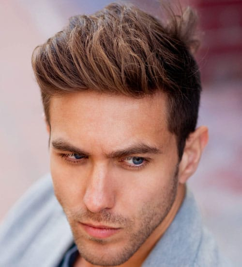 Brushed Up Fringe Hairstyles For Men