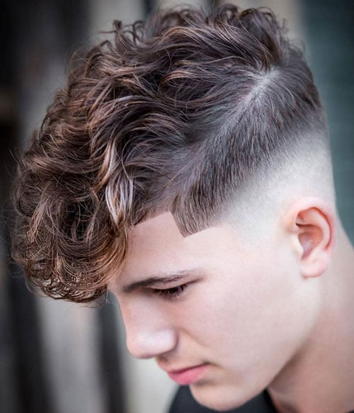Curly Bangs For Men