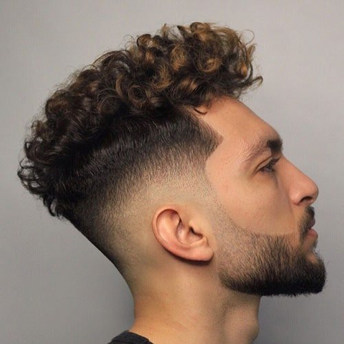 Curly Fringe For Men