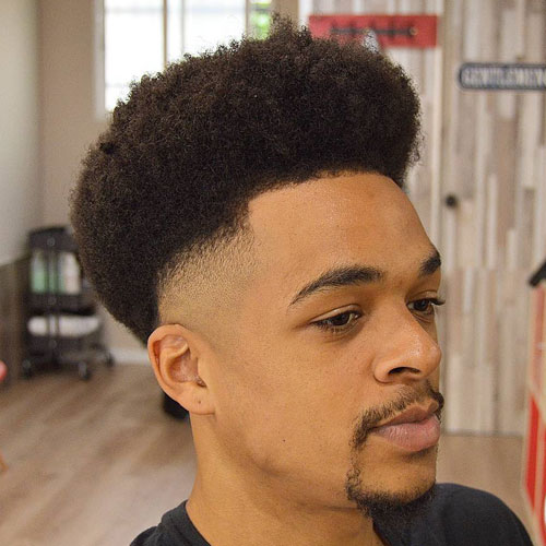 Afro with Bald Fade
