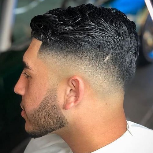 Bald Drop Taper Fade Haircut