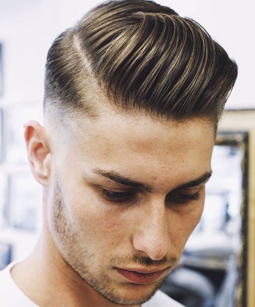 Bald Fade Side Part
