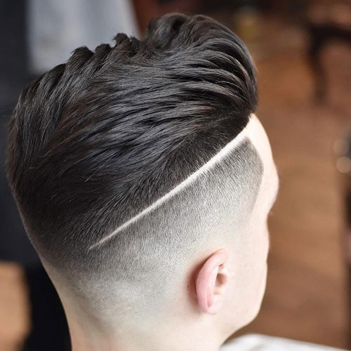 Bald Fade with Line