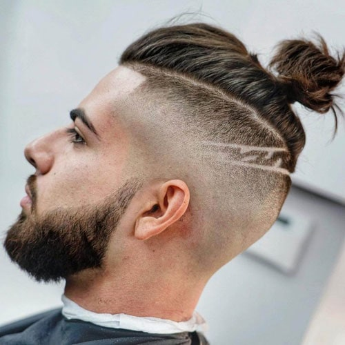 Bald Fade with Long Hair