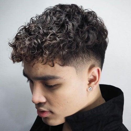 Curly Hair Bald Fade