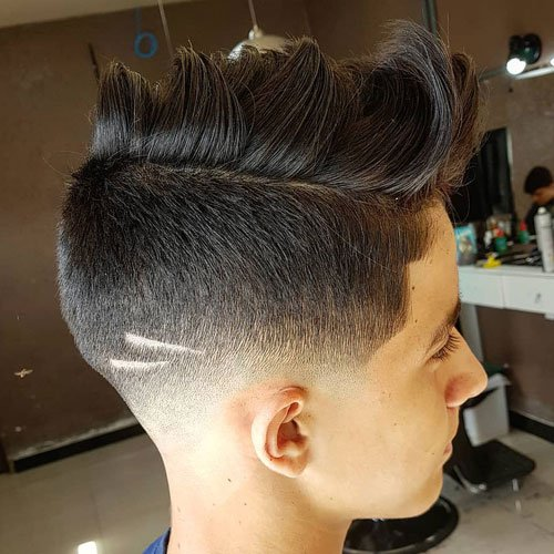 Faux Hawk with Bald Fade