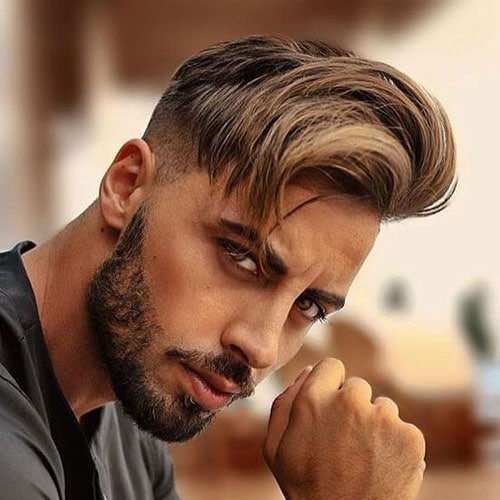 Side Swept Hair with Undercut Hairstyle
