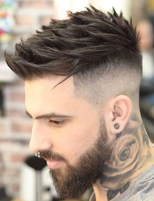 Spiky Hair Fade Haircuts Men