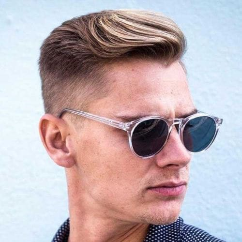 Textured Hairstyles For Men with Big Foreheads
