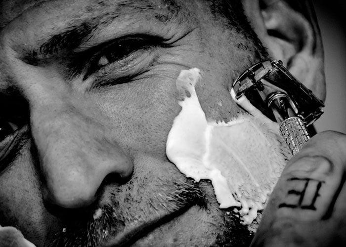 Shaving Sideburns