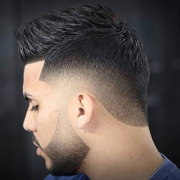 Sideburn and Beard Fade