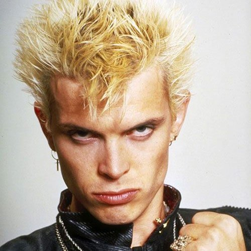 80s Men's Dyed Blonde Hair