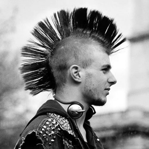 80s Men's Mohawk Haircut