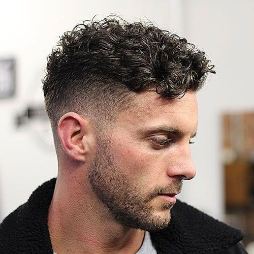Caesar Cut Perm Hair Men