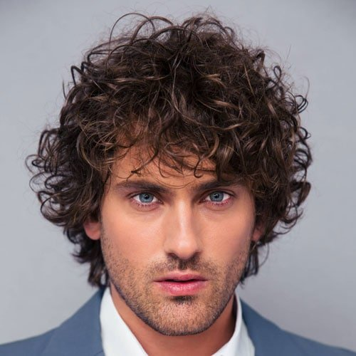 Medium Length Curly Hair Perm Men
