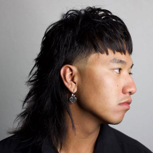 Mullet with Bangs