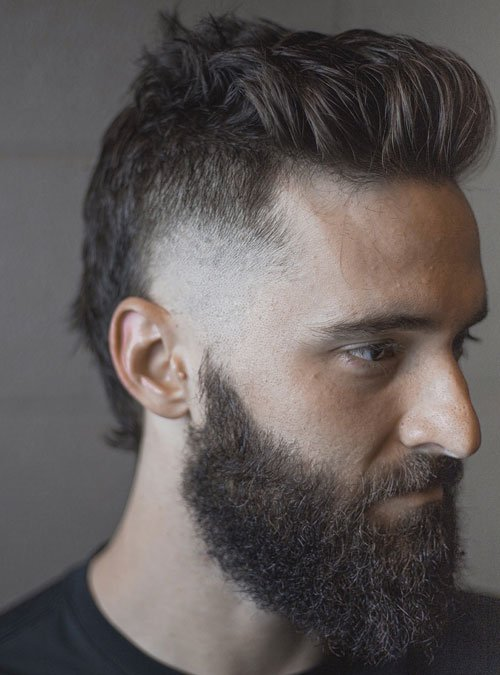 Mullet with Beard