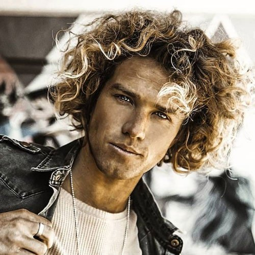 Perm Hair Men with Volume