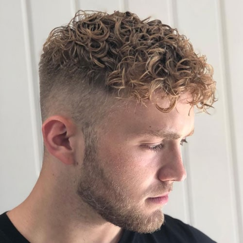 Tight Curl Perm Hair Men